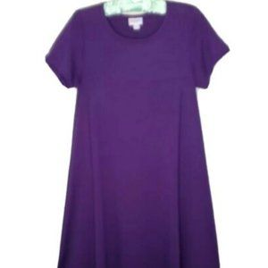 Lularoe Dress Purple Hi Low Midi Trendy Stretch XS